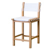 CANVAS BARSTOOL, WHITE