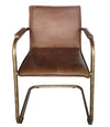 Alessia Leather Dining Chair, Vintage Brown