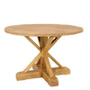 Round Dining Table, Antique Natural Recycled Elm
