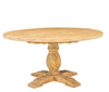 Round Dining Table, Antique Natural