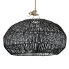 RATTAN ANGULAR PENDANT, SMALL BLACK