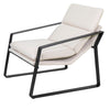"""Coral"" Outdoor Single Fabric Recliner, White/Black"