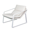 """Coral"" Outdoor Single Fabric Recliner, White"