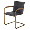 ALESSIA LEATHER DINING CHAIR LEAD