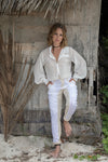 EUCABETH TWO TONE WHITE/CREAM JODHPURS