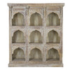LARGE CARVED WOODEN SHELF UNIT