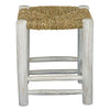 Low Seagrass Stool, Whitewashed