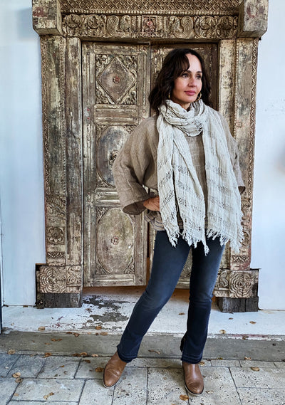 SCIALLE MELIS SCARF NATURALE