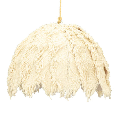COTTON OSTRICH FEATHER PENDANT, LONG