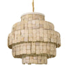Coconut Shell Layered Pendant Light