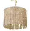 Coconut Shell Drum Pendant Light