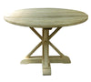 Round Dining Table, Bleached Recycled Elm