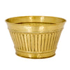 LARGE BRASS CHAMPAGNE BUCKET WITH ANTIQUE BRASS FINISH