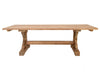 Carved Leg Recycled Teak Outdoor Dining Table, Natural