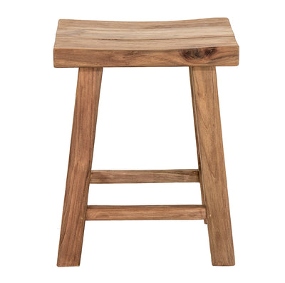 Low Concave Stool Recycled Teak
