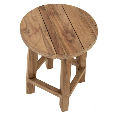 Low Round Stool Recycled Teak