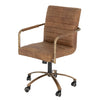 ROCCO ANTIQUE LEATHER OFFICE CHAIR