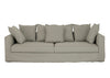 CORAL THREE SEATER OUTDOOR SOFA IN TAUPE SUNBRELLA