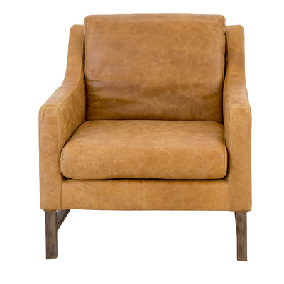 GIORGIO LEATHER ARM CHAIR COGNAC