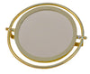 ADJUSTABLE ANGLE BRASS COATED IRON MIRROR LARGE