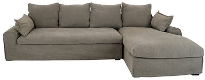 SENJA CORNER SOFA SET OF 2, TAUPE