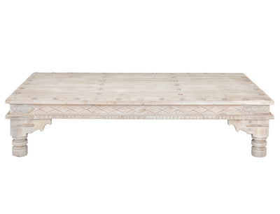 RECTANGULAR COFFEE TABLE WITH IRON DETAIL