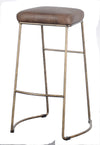 VINTAGE LEATHER BAR STOOL