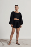 MAYA MINI SHORT- BLACK