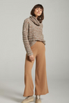 CAMEL SOLACE WOOL AND CASHMERE PANTS