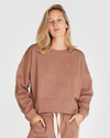 FLEECE SWEAT SHIRT - MOCHA