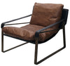 THOMAS LEATHER & BRONZE RECLINER