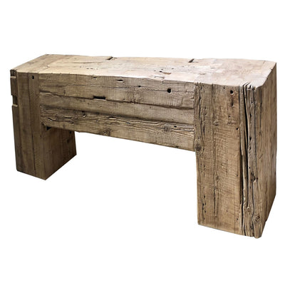 OLD WOODEN BEAM CONSOLE