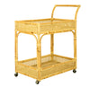 BAMBOO & RATTAN DRINKS TROLLEY