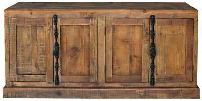 4 DOOR CABINET RECYCLED WOOD