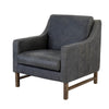GIORGIO LEATHER ARM CHAIR LEAD