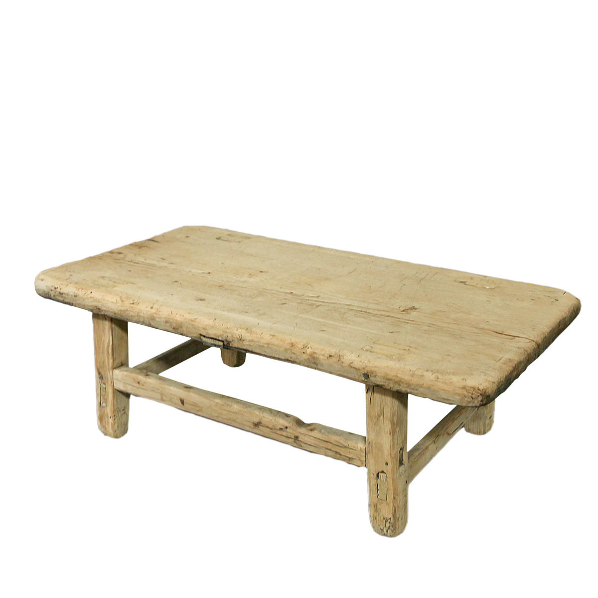 Recycled Elm Small Low Coffee Table