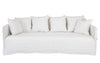 KHALIA THREE SEATER SOFA WHITE