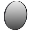 TINA ROUND MIRROR, BLACK