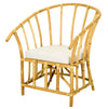 ANTIQUE STYLE ARM CHAIR NATURAL