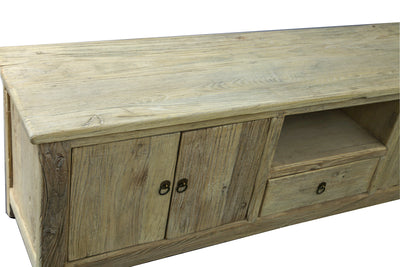 RECYCLED ELM FOUR DOOR ENTERTAINMENT UNIT