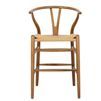 REPLICA WISHBONE BAR STOOL NATURAL OAK