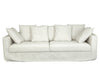 CORAL THREE SEATER OUTDOOR SOFA, WHITE