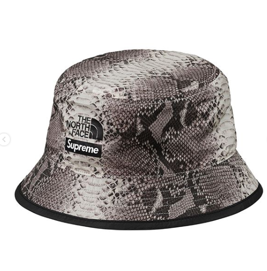 SUPREME X NORTH FACE SNAKE SKIN BUCKET HAT