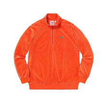 Supreme®/LACOSTE Velour Half Zip Track Top Orange