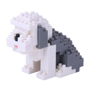 Perro Lanudo Old English Sheepdog Nanoblock