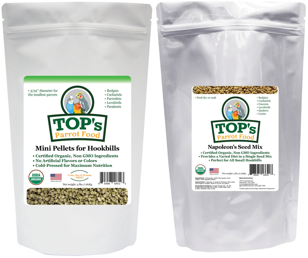 Mini Bird Pellet & Seed Two-Pack (includes shipping)