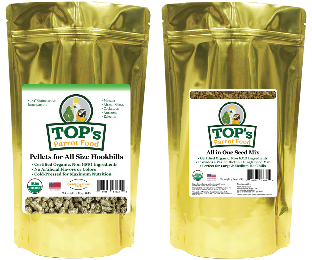 Large Bird Pellet & Seed Two-Pack (includes shipping)