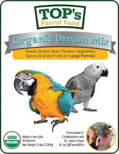 NEW! TOP's Organic Dream Mix for Parrots (includes shipping)