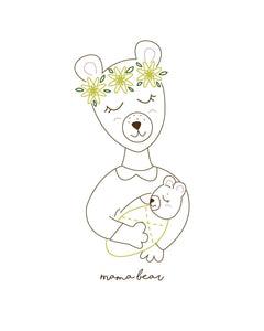 Nursing Mama Bear Art Print