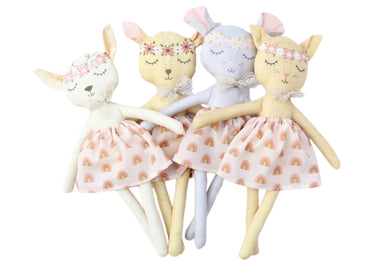 Indy and Pippa Rainbow Critter Doll